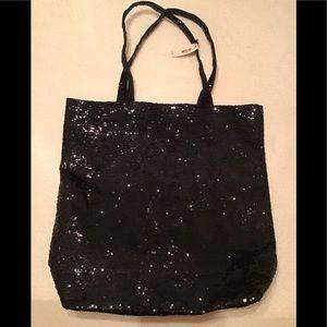 Victoria's Secret Black Sequins Embellished Tote